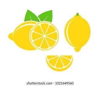 Lemon logo. lsolated lemon on white background. EPS 10. Vector illustration