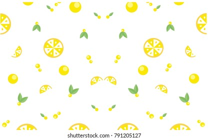 Lemon pattern seamless-vector illustration.Fruit pattern concept.summer season.