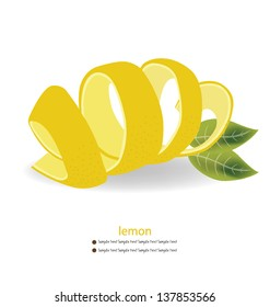 Lemon peel vector illustration.