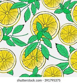 Lemon Mint Pattern Images Stock Photos Vectors Shutterstock