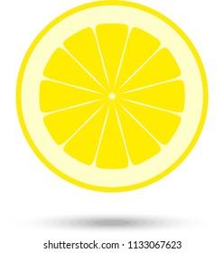 Lemon slice. Vector Illustration