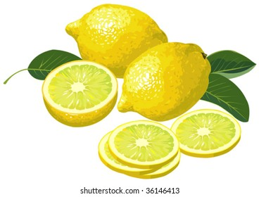 Lemon with slices