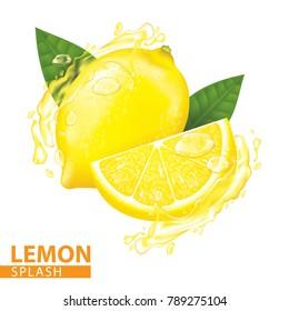 Lemon splash vector illustration