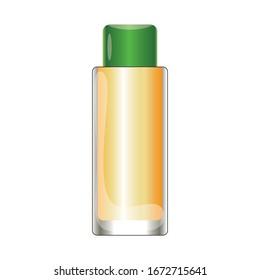 Lemon and tobacco cologne bottle vector, lemon kolonya for coronavirus vector illustration, isolated on white background