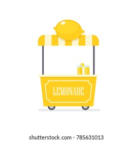 Lemonade cart. Vending machine clipart isolated on white background