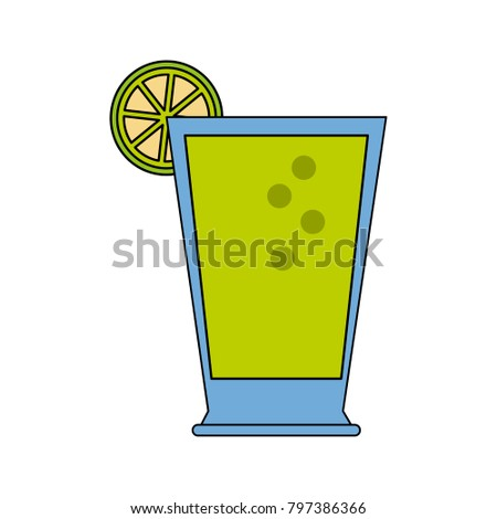 Lemonade Glass Cup Stock Vector (Royalty Free) 797386366