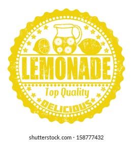 Lemonade grunge rubber stamp on white, vector illustration