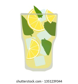 lemonade with ice in a glass