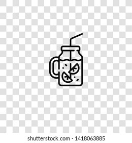 lemonade icon from barbecue collection for mobile concept and web apps icon. Transparent outline, thin line lemonade icon for website design and mobile, app development