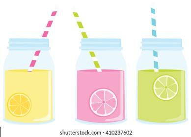 Lemonade in Mason Jars