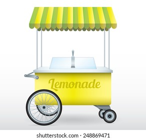 Lemonade stand cart vector illustration isolated object