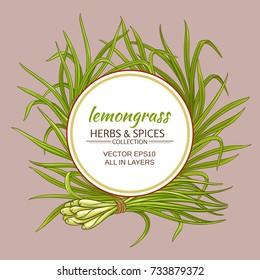 lemongrass vector frame