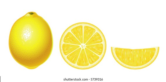 Lemons isolated (complex version, other fruits & berries are in my gallery)