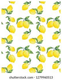 lemons pattern summer