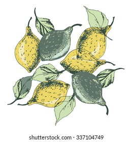 Lemons Seamless Pattern