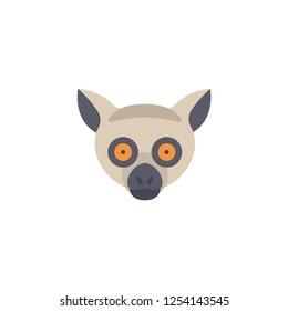 lemur head cartoon icon