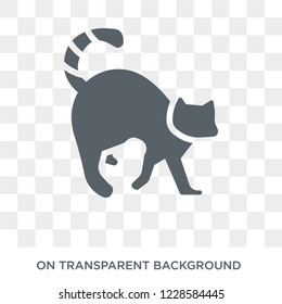 Lemur icon. Trendy flat vector Lemur icon on transparent background from animals  collection. High quality filled Lemur symbol use for web and mobile