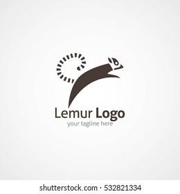 Lemur Logo Design Template. Vector Illustration
