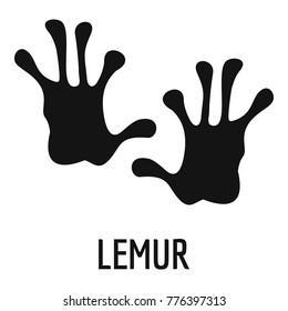 Lemur paw print icon. Simple illustration of lemur paw print vector icon for web