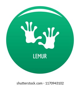 Lemur step icon. Simple illustration of lemur step vector icon for any design green