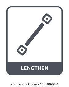 lengthen icon vector on white background, lengthen trendy filled icons from Geometry collection, lengthen simple element illustration