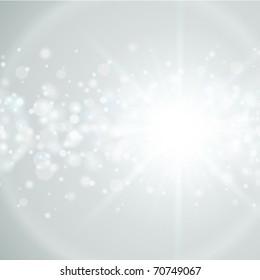 Lens flare light and glow bokeh effect vector illustration
