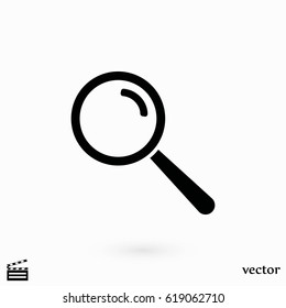 lens icon vector, flat design best vector icon