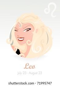 Leo astrological sign . Vector illustration