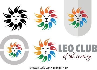 leo club of thr century logo concept for social organisations and wildlife centuries.