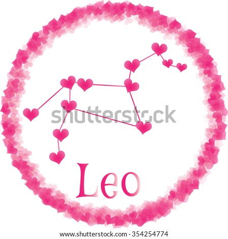 Leo Zodiac Sign Lovers On Valentines Stock Vector Royalty Free