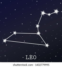 leo zodiac star sign illustration, leo zodiac horoscope star vector illustration