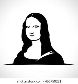 Leonardo da Vinci's Mona Lisa vector