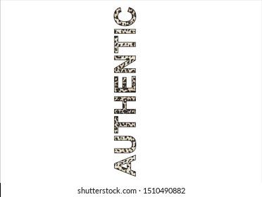 leopar authentic slogan vector design