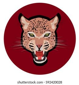 Leopar head jaguar  vector, illustration face