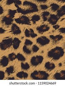 Leopard / Cheetah skin seamless pattern, vector