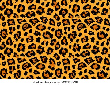 Leopard / cheetah skin seamless pattern, abstract animal background, vector illustration