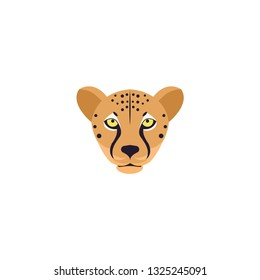 leopard face icon on a white background