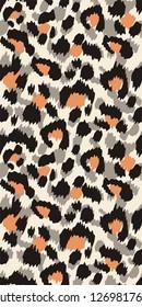Leopard fur, animal print, seamless vector pattern