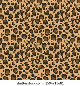 Leopard pattern design, illustration background print