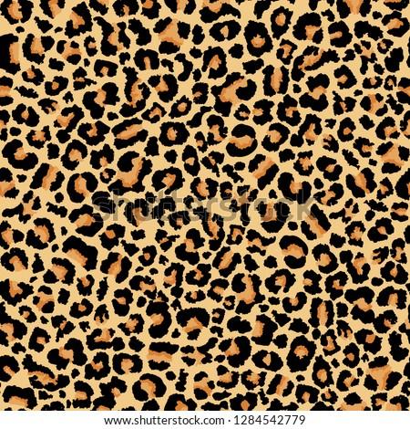 Leopard pattern Seamless vector