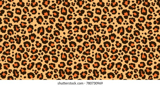 leopard pattern texture repeating seamless orange black