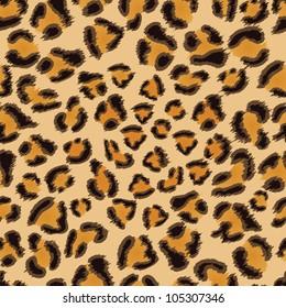 Leopard seamless background for your design. EPS 8 vector illustration.