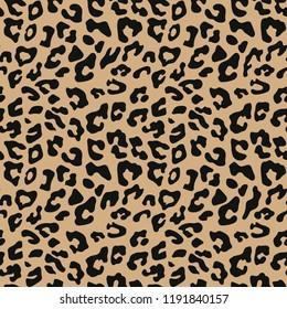 Leopard seamless pattern. Animal print. Vector background