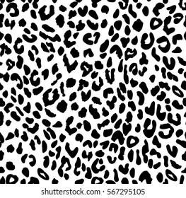 LEOPARD SEAMLESS PATTERN black and white