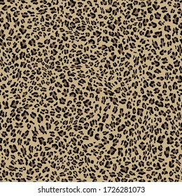 Leopard seamless pattern on textile vector background.