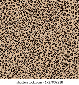 Leopard seamless pattern for printing clothes, fabrics. Stylish modern textile pattern. Vector illustration.