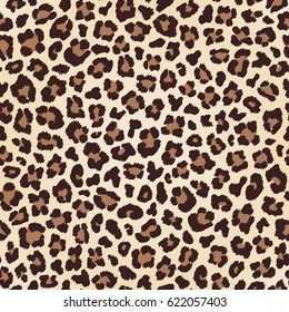 Leopard seamless texture, fur imitation. Vector
