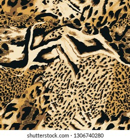 Leopard seamless vectorn pattern for wallpaper, textile.