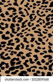Leopard skin pattern vector, black pattern isolated.