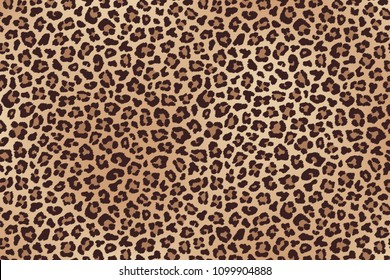 Leopard spotted fur texture. Vector